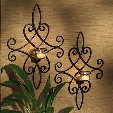 Tuscan Candle Wall Sconces Sconce Iron Candle Holders Amazon Iron Sconces Candle Holders