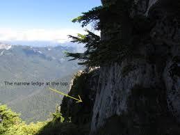 narrow picture ledge gunn peak hike to hike