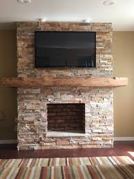 reface fireplace with stone veneer fireplace pinterest
