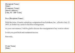 resignation letter sample with notice period resume template