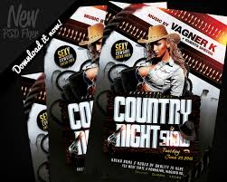 template flyer country free country night show flyer template psd by remakned on deviantart