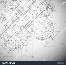 Architectural Plan Detailed Architectural Plan Eps 10 Stock Vector 109940924