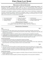 Mechanical Design Engineer Resume Objective Sample Resume Mechanical Engineer 2 Sample Resume For Experienced