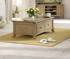 ash coffee table with drawers lincoln ash large coffee table with drawers oak furniture uk