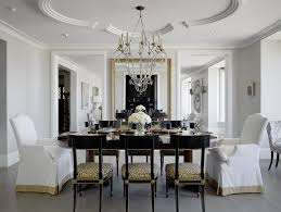 Dining Room Place Settings Skirted Dining Chairs Room Traditional With Incandescent Chandeliers