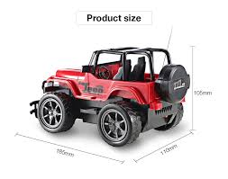 kids red jeep 1 24 vehicle remote control car off road jeep suv toy 9 59