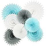 Baby Boy Centerpieces For Baby Shower - amazon com furuix 18 pcs boy baby shower decorations white and