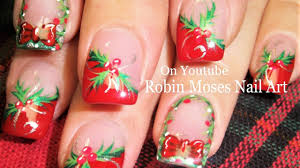 easy christmas nails diy holly and xmas wreath nail art