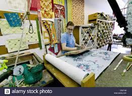 Hand Printed Wallpaper by Hand Printing Custom Wallpaper At Adelphi Paper Hangings Sharon