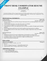 Supply Chain Coordinator Resume Sample Front Desk Coordinator Resume Sample Resumecompanion Com