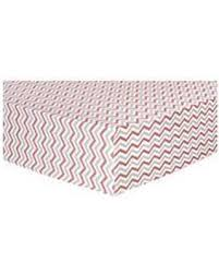 great deal on trend lab flannel fitted crib sheet coral gray