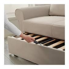 backabro two seat sofa bed ramna beige ikea