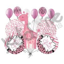 welcome home party decorations 11pc sweet safari baby giraffe balloon decoration party