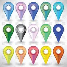 Map Pins Colorful Map Pins Or Pointers Vector Image 63475 U2013 Rfclipart