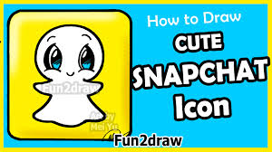 how to draw cute snapchat logo step by step fun facts easy