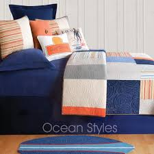 blue and orange bedding endless summer bedding oceanstyles com