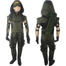 Kids Halloween Gifts by Arrow Season 4 Oliver Queen Cosplay Costume Deluxe Halloween