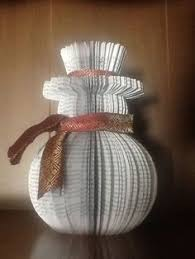 Book Paper Folding - book snowman so available from http www
