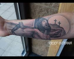 jesus on the cross playing with forced perspective by ricky
