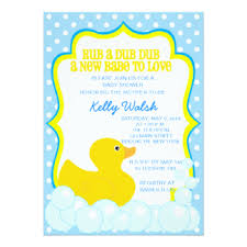rubber duck baby shower rubber ducky baby shower invitations announcements zazzle