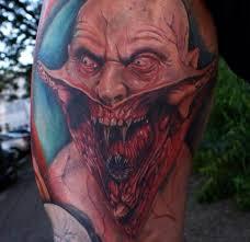 monster tattoo with sharp teeth ideas tattoo designs