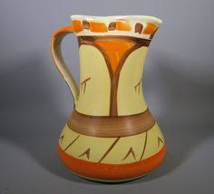 gold rose pattern 8319 myott art deco doric jug rare pattern 9185 art deco vases and