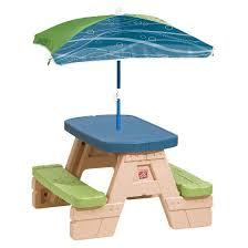 step2 sit u0026 play junior picnic table with umbrella target