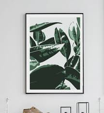 Home Interior Wall Hangings Banana Leaf Print Wall Decor Home Decor Digital Print