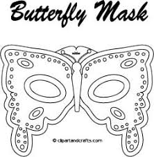 eye mask template printable butterfly mask coloring page or template