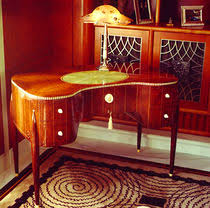 art deco style writing desk art deco design writing desk dk113 pollaro art deco pinterest