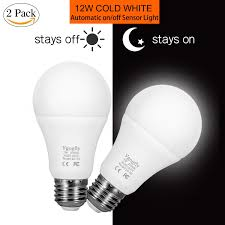 outdoor garage light bulbs dusk to dawn light bulb 7w e26 e27 smart sensor led bulbs built in