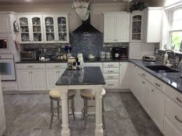 Gray And White Kitchen Cabinets Blue And White Kitchen Cambria Quartz Countertop Parys Kraft