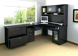 black desk with hutch black desk with hutch desks for home office with hutch medium size