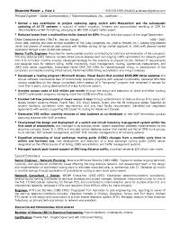 Account Executive Resume Sample by Resume Sample 13 Senior Telecommunications Engineering