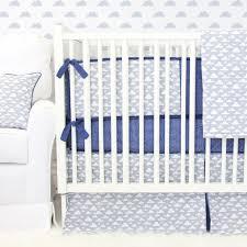 Cloud Crib Bedding Cloudy Day Blue Gray Baby Bedding Caden
