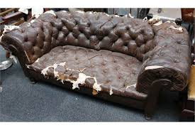 Distressed Chesterfield Sofa A Leather Chesterfield Sofa Distressed 186cm Wide