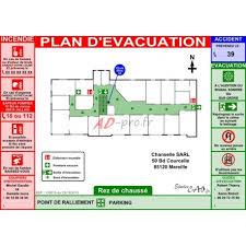telecharger bureau plan d évacuation a3 horizontal pour bureau