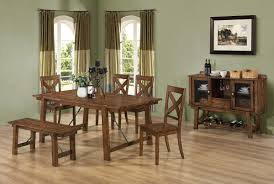 comfortable dining room table sets with bench