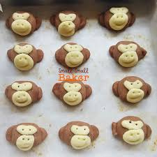 small small baker cny 2016 salted egg yolk cookies monkey