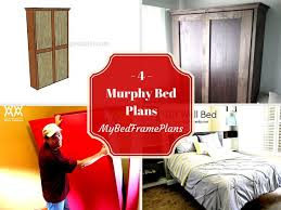 Murphy Bed Directions To Build 4 Free Murphy Bed Plans Free Bed Frame Plans How To Build A