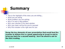 event recap template investor presentation template