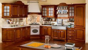cuisine massif cuisine classique en bois massif en bois avec poignées