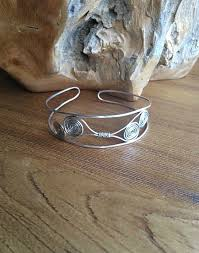 silver wire bangle bracelet images Handmade silver necklace unusual silver necklace jpg