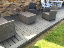 photo terrasse composite terrasse en bois composite fiberon xtrem galaxy jardin