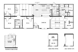 floor plans of homes floorplan 3321 76x28 ck4 2 classic mod 58cla28764cm oakwood