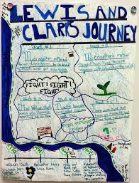 Lewis And Clark Expedition Map Lewis And Clark Expedition A Poster Project Appletastic Learning