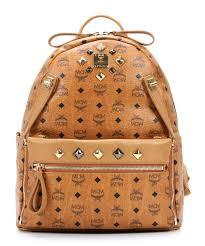 mcm designer mcm dual stark backpack cognac mmk4sve79co001 designer bags
