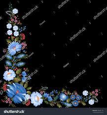 ukrainian art painting folk ornament vector stock vector 326291174