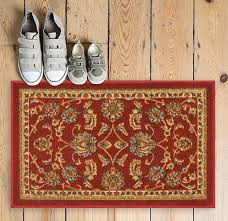 timeless oriental red traditional classic sarouk mat non slip