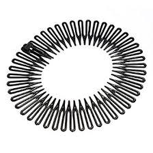 hair band black plastic stretch sport hair band circle comb